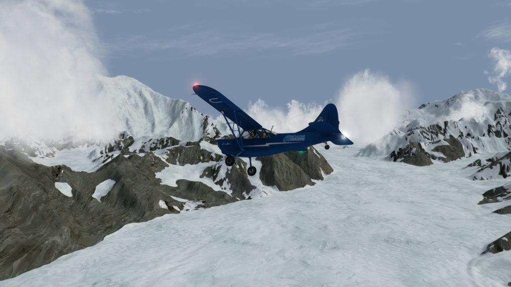 Virage sur le Kahitna glacier