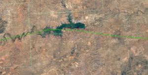 Détail du tracé sur Google Earth
